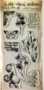 Tim Holtz  Nature's Elements Clear Stamp Set Stampers Anonymous NIP