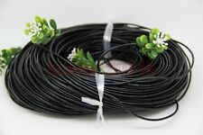 10/50M Real Leather Cord Necklace Charms Rope String Fit Jewelry Making 2.0mm