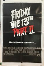 "FRIDAY THE 13TH PART 2 - Original 1981 Horror Movie Poster 27""x41"" One Sheet"