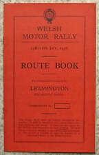 WELSH RALLY MOTORE Leamington percorso iniziale Book 14 - 18 luglio 1936