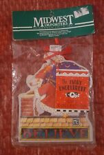 New Mary Engelbreit Believe Santa Wood Christmas Ornament Midwest Chimney Toys