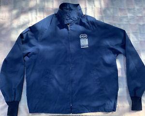 Vintage Size L jacket Poly cotton blue USA Farmers Coop CFI Steel  aristo jac