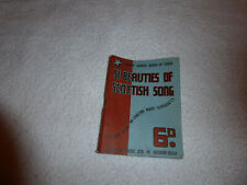 Vintage 51 Beauties of Scottish Song pocket book