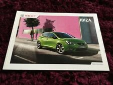 Seat Ibiza Brochure 2013 - June 2013 inc E, SE, Toca, FR, Cupra