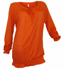 Sheego Damenblusen, - tops & -shirts mit Rundhals-Ausschnitt aus Viskose