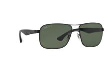 Ray Ban RB3516 006/9A 59 черная рамка зеленый Classic G-15 59 мм объектив солнцезащитные очки