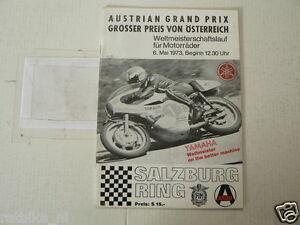 1973 AUSTRIAN GRAND PRIX MOTORRADER 6 MAI SALZBURGRING YAMAHA, MOTO GP
