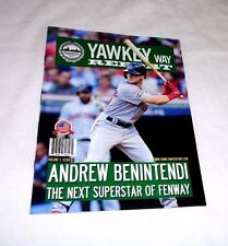 May 2017 Yawkey Way Report Red Sox Program Magazine Andrew Benintendi 1st Cover