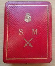 Originales ETUI  des  Silberne  Verdienstmedaille   mit  Schwertern,  Reuß