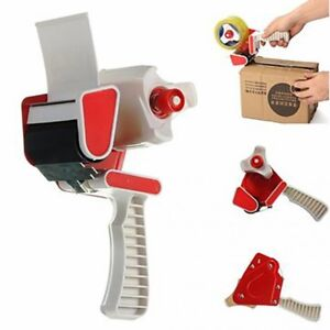 """4 DURABLE HEAVY DUTY 2"""" 50MM TAPE GUN DISPENSERS CORE WITH SAFEGUARD"""