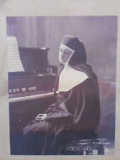 Albumen Print Portrait Nun at Organ 1895 Taber Art Company Schram Bros 8.5 x 6.5