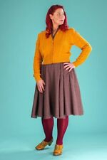 Emmy Susie Q 1940's Vintage Style Mustard cropped waist length cardigan 18 - 20