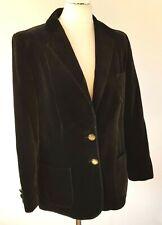 Vintage 80's Velvet Jacket Black Womens Ladies C&A 6th Sense Fits UK 12