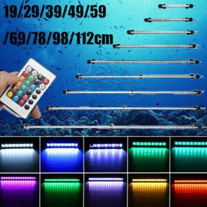Aquarium Fish Tank LED Light Bar White RGB with Remote Control 19/29/49/112CM