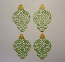 4 CHRISTMAS TREE ORNAMENT DIE CUTS ~ XMAS BAUBLE FULLY ASSEMBLED SCRAPBOOKING