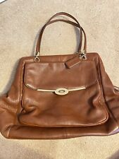 Coach Large Brown Leather Handbag