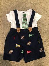 Nwot-Boutique-Mud Pie-Football 2-Pc. Short Outfit-6-9M