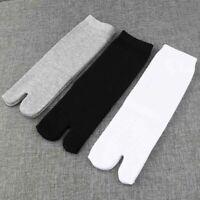 3 Pairs Cotton Split Toe Socks For Men Women Kimono Flip Flop Sandal Tabi Ninja