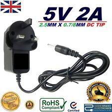 Reino unido AC/DC entrada: 100-240 V 5 V 2 A 2000 mA 2.5MMx0.8MM Cargador Adaptador De Fuente De Alimentación Reino Unido