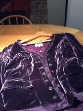 noa noa plum purple velvet jacket large uk 12
