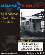 Alliance Model Works 1:700 WWII IJN Fukoha 7970 Passanger Railcars 4pc #NW70051*