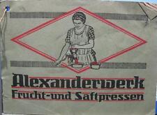Anonimo, Alexanderwerk-Frucht-und Saftpresse