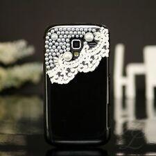 Samsung Galaxy Ace 2/i8160, FUNDA RÍGIDA, FUNDA móvil cartera, funda protectora, estuche, negro