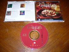MasterCook Cooking Light Ver. 4.0 Pc/Mac Cd-Rom Recipes Windows 95/3.1 Power Mac