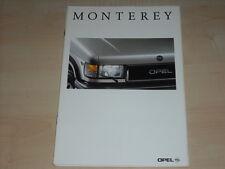 40706) Opel Monterey Prospekt 01/1993