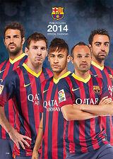 Oficial FC Barcelona Fútbol Calendario 2014 nuevo y emb. orig. Official Calendar