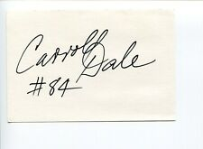 Carroll Dale Green Bay Packers Super Bowl Virginia Tech HOF Signed Autograph