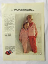 1970 Magazine Advertisement Page For Carter's Winter Brights Kids Clothes Ad