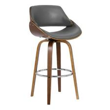 """New listing Hawthorne Collections 26"""" Faux Leather Swivel Counter Stool in Walnut and Gray"""