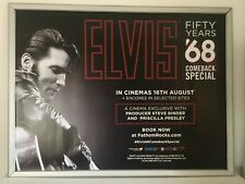 ELVIS The 68 Comeback Special. ORIGINAL UK QUAD CINEMA POSTER Rare.