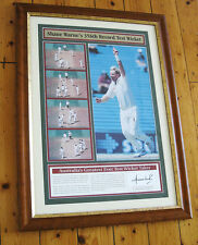 SHANE WARNE'S 356TH RECORD TEST WICKET LIMITED EDITION PRINT