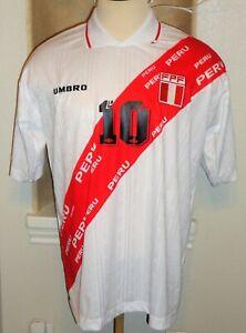 VTG UMBRO PERU PALACIOS #10 SOCCER JERSEY FOOTBALL SHIRT COPA AMERICA 1997 SL