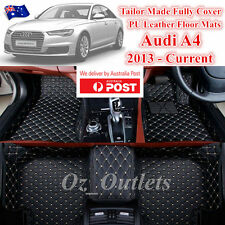 3D Cut Custom Made Waterproof PU Leather Car Floor Mats fits Audi A4 2013 - 2017