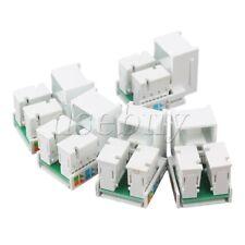 5pcs RJ45 Cat5e Network LAN Cable Module Wall Plug Jack Adapter White