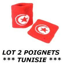2 BRACELETS DRAPEAU TUNISIE serre poignet maillot sport football jogging tennis