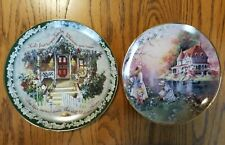 Two Limited Edition Collector Plates Bradford Mint Franklin Mint