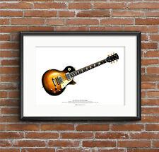 Slash's 1959 Gibson Les Paul guitar ART POSTER A2 size