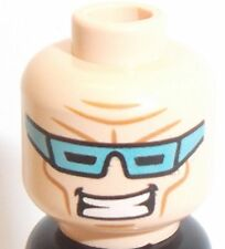 Lego Captain Cold Head x 1 Light Flesh Dual Sided Face for Minifigure