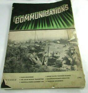 Communications Magazine Nov 1944 Vol 24 No 11 WWII Cover Field Radio electronics