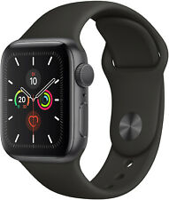 Apple Watch Series 5 44mm (A2093) Space Gray Alu Blk Sp Band GPS Neuwertig