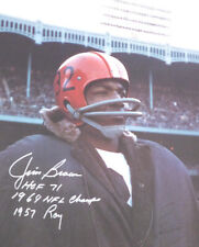 JIM BROWN AUTHENTIC AUTOGRAPHED SIGNED 16X20 PHOTO BROWNS WITH STATS PSA 145344