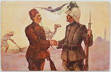 Cartolina militare coloniale con soldati guerra italo turca