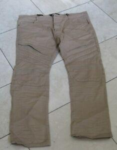 new FBRK  KHAKI JP7734    FADED  Ripped Jeans  MEN Size 44/32 ***