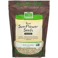 Now Foods SUNFLOWER SEEDS Raw & Unsalted, 16 oz VITAMIN E, MAGNESIUM, FIBER