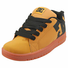 DC Shoes Court Graffik Kids Wheat Leather & Synthetic Skate Trainers