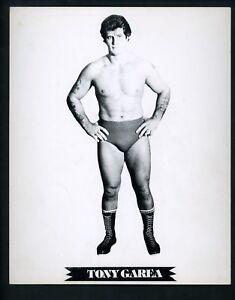 Tony Garea Wrestling Champion circa 1970's Promo Photo Wrestler
